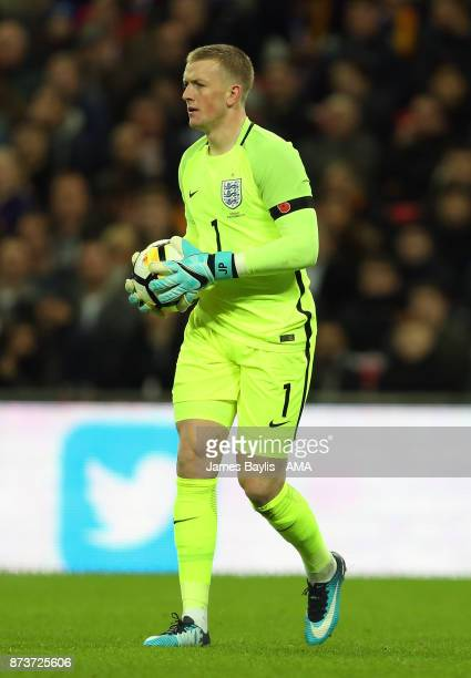 Jordan Pickford of England during the International Friendly fixture between Germany and England at Wembley Stadium on November 10 2017 in London...