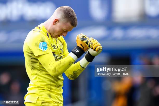 Jordan Pickford of Everton celebrates after his teams second goal to make it 21 during the Premier League match between Everton FC and Crystal Palace...
