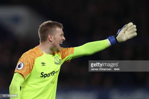 Jordan Pickford of Everton during the Premier League match between Everton FC and Watford FC at Goodison Park on December 10 2018 in Liverpool United...