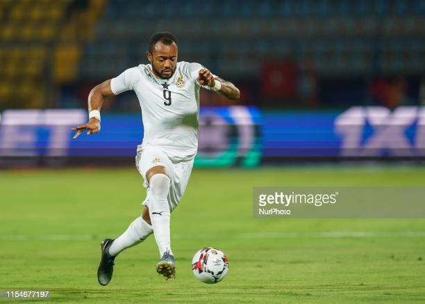 Jordan Pierre Ayew of Ghana during the 2019 African Cup of Nations match between Ghana and Tunisia at the Ismailia Stadium in Ismailia, Egypt on July...