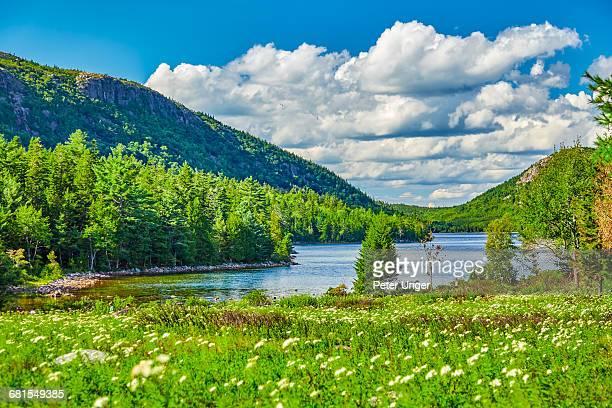 Jordan Pond in Acadia National Park,Maine