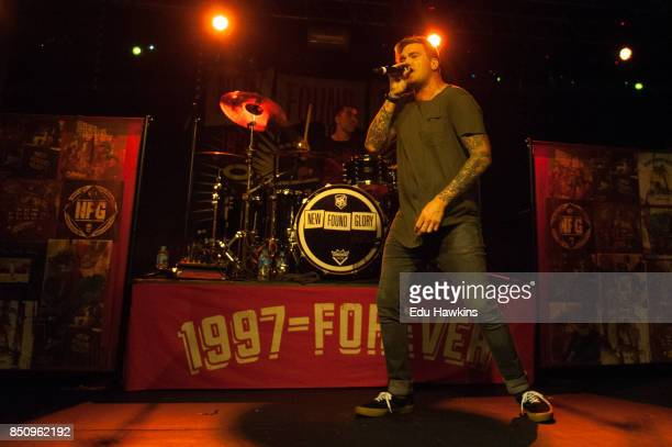 Jordan Pundik and Cyrus Bolooki of New Found Glory performs at O2 Academy Oxford on September 21 2017 in Oxford England