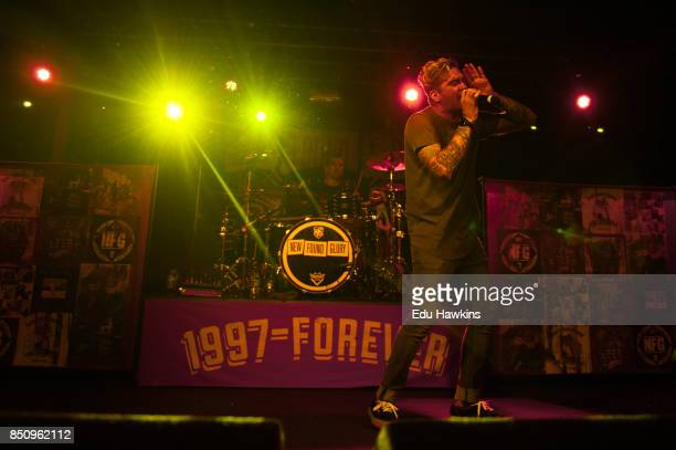 Jordan Pundik of New Found Glory performs at O2 Academy Oxford on September 21 2017 in Oxford England