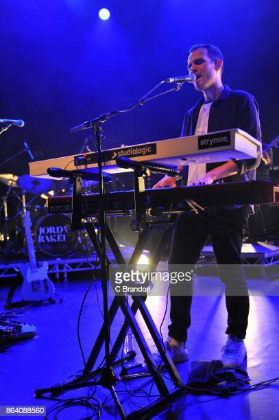 Jordan Rakei performs on stage at the O2 Shepherd's Bush Empire on October 20 2017 in London England