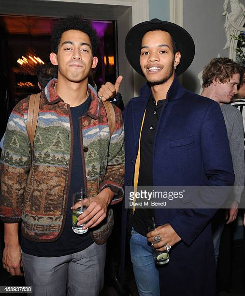 Jordan Razzle Stephens and Harley Sylvester AlexanderSule attends The Warrior Games event at Home House on November 13 2014 in London England