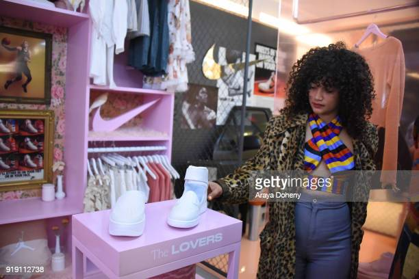 Jordan Rebello attends the Flaunt Magazine Dinner with Nike and Revolve on February 15 2018 in Los Angeles California