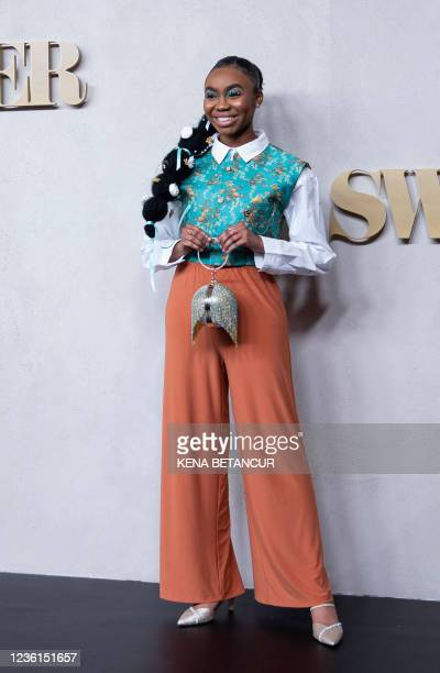 """Jordan Rice attends Apple TV+ """"Swagger"""" New York premiere at Brooklyn Academy of Music on October 26, 2021 in New York City."""