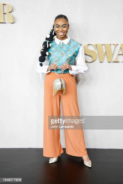 """Jordan Rice attends the """"Swagger"""" New York Premiere at Brooklyn Academy of Music on October 26, 2021 in New York City."""