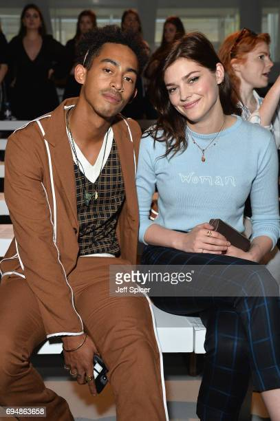 Jordan 'Rizzle' Stephens and Amber Anderson attend the Christopher Raeburn show during London Fashion Week Men's June 2017 collections on June 11...