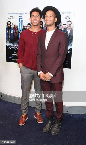 Jordan Rizzle Stephens and Harley Sylvester AlexanderSule of Rizzle Kicks attend the UK Premiere of The Guvnors at Odeon Covent Garden on August 27...