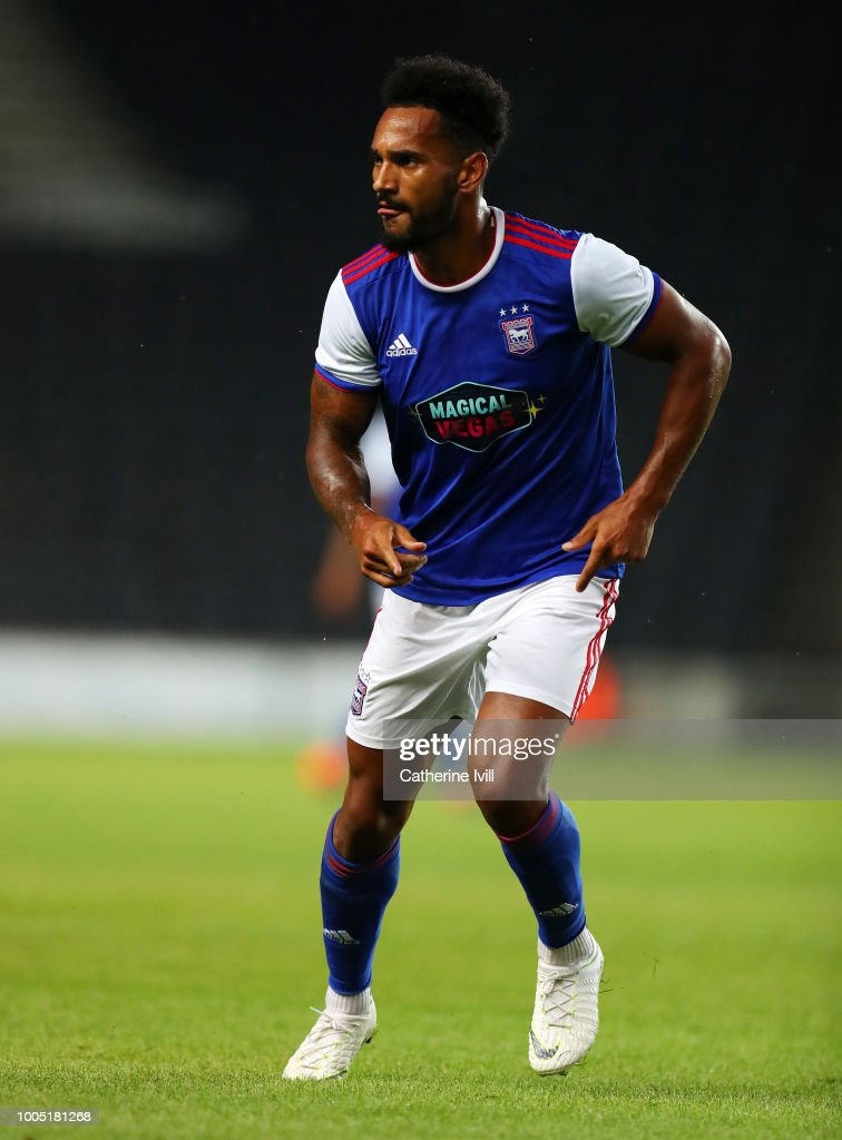 Jordan Roberts of Ipswich Town during the Pre Season Friendly between Milton Keynes Dons and Ipswich Town at StadiumMK on July 24, 2018 in Milton Keynes, England.