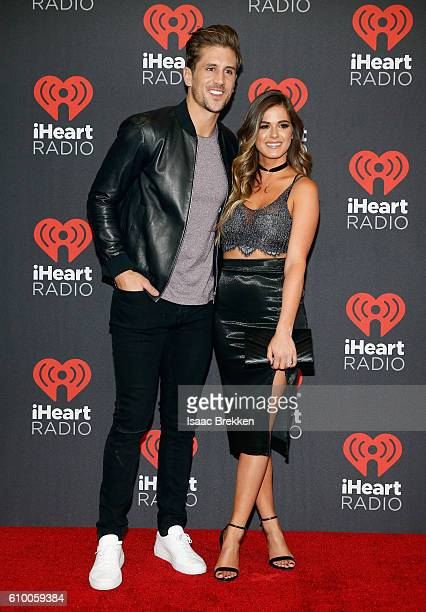 Jordan Rodgers and JoJo Fletcher attend the 2016 iHeartRadio Music Festival at TMobile Arena on September 23 2016 in Las Vegas Nevada
