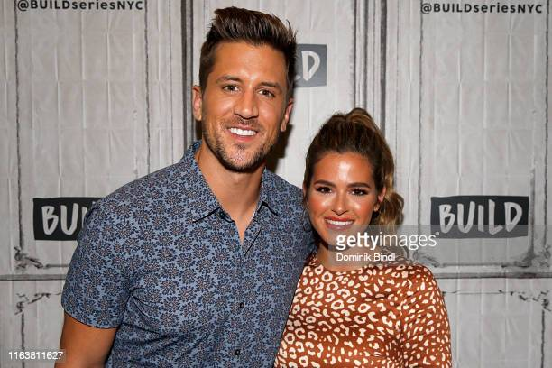Jordan Rodgers and JoJo Fletcher attend the Build Series to discuss 'Cash Pad' at Build Studio on July 23 2019 in New York City