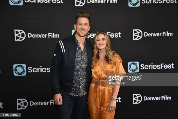 Jordan Rodgers and JoJo Fletcher hosts of the CNBC's Cash Pad at SeriesFest season 5 at Sie FilmCenter on June 22 2019 in Denver Colorado