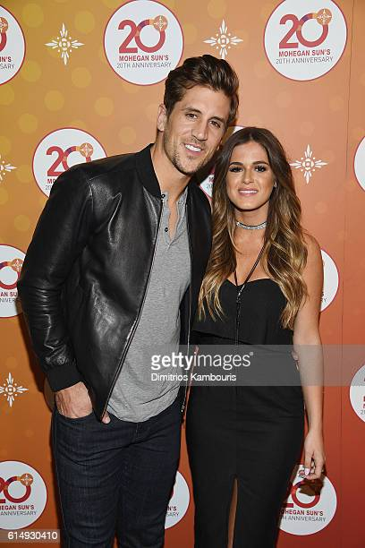 Jordan Rodgers and Jojo Fletcher of The Bachelorette walk the red carpet before the Ballroom After Party with Chrissy Teigen and LL Cool J for...
