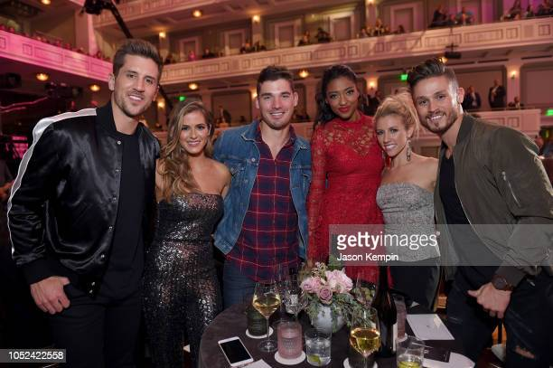 Jordan Rodgers JoJo Fletcher Kerry Degman Alisa Fuller Jessica Mack and Jackson Boyd of TV show Music City take photos during the 2018 CMT Artists of...