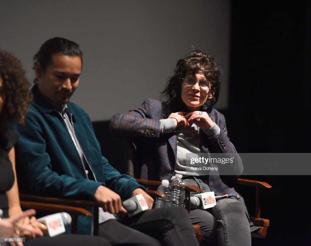 Jordan Rodrigues and April Napier attend the Film Independent Hosts Directors Close-Up Screening Of 'Lady Bird' at Landmark Theatre on February 7, 2018 in Los Angeles, California.
