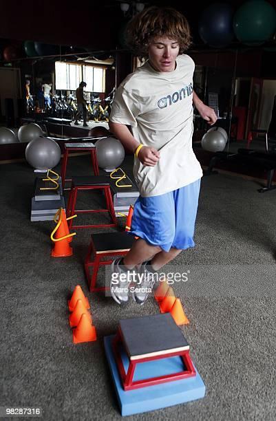 Jordan Romero training in Big Bear Lake California on April 6 2010 Jordan Romero is youngest American to have climbed 5 of the 7 summits 10 years old...