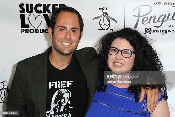 Jordan Ross and Lindsey Rosin attend the Unauthorized OC Musical One Night Only Event presented by Original Penguin at The Montalban on August 30...
