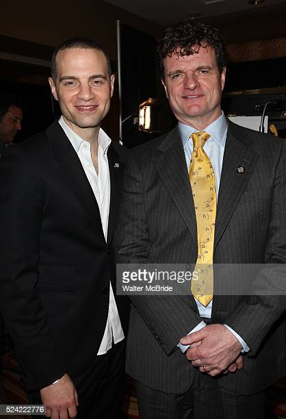 Jordan Roth Michael Cumpsty Behind the Scenes at the 2012 Tony AwardMeet The Nominees Press Reception at Millennium Broadway Hotel on May 2 2012 in...