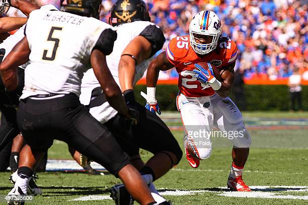 70659a43466 Jordan Scarlett of the Florida Gators in action during the game against the  Vanderbilt Commodores at