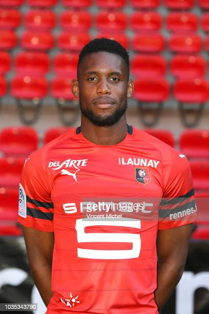 Jordan Siebatcheu of Rennes during the Rennes Photoshooting on September 17 2018 in Rennes France