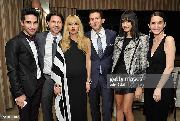 Jordan Silver Rodger Berman Rachel Zoe Tom Balamaci Mandana Dayani and Megan Gustashaw attend the relaunch of 'The Zoe Report' Hosted by FIJI Water...