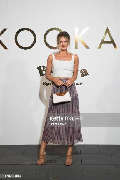 Jordan Simek arrives ahead of the KOOKAI Bonita SS'19 Runway Show at Campbell's Stores on October 2 2019 in Sydney Australia