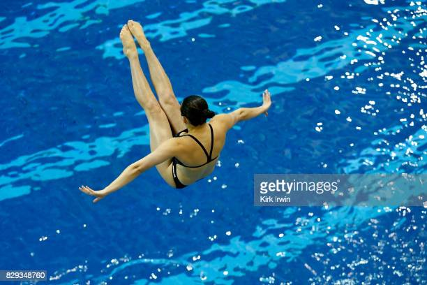 Jordan Skilken of the Ohio State Diving Club competes during the Senior Women's 3m Springboard Semifinal during the 2017 USA Diving Summer National...