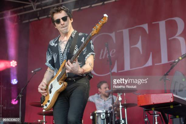 Jordan Smith of The Xcerts performs on stage during TRNSMT Festival Day 4 at Glasgow Green on July 6 2018 in Glasgow Scotland