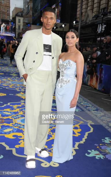 Jordan Spence and Naomi Scott attend the European Gala screening of Aladdin at Odeon Luxe Leicester Square on May 9 2019 in London England