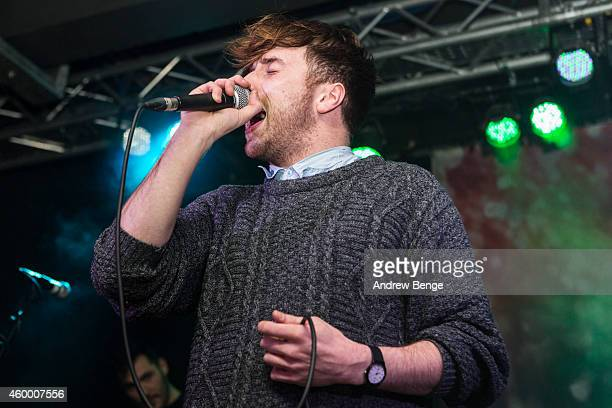 Jordan Spiers of Flood Of Red performs on stage at Belgrave Music Hall on December 5 2014 in Leeds United Kingdom