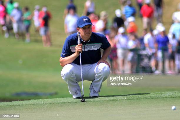 Jordan Spieth during the final round of the PGA Tour Championship The Tour Championship is the final event of the FedEx Cup playoffs and is being...