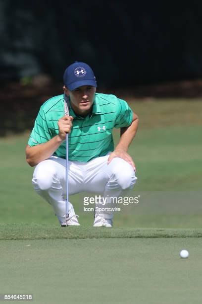 Jordan Spieth during the second round of the PGA Tour Championship The Tour Championship is the final event of the FedEx Cup playoffs and is being...