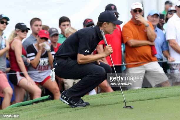 Jordan Spieth during the third round of the PGA Tour Championship The Tour Championship is the final event of the FedEx Cup playoffs and is being...