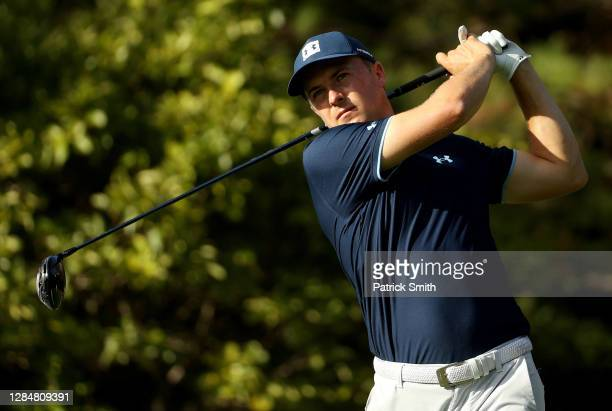 Jordan Spieth of the United States during a practice round prior to the Masters at Augusta National Golf Club on November 09, 2020 in Augusta,...