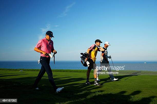 Jordan Spieth of the United States during the third round of the 2015 PGA Championship at Whistling Straits on August 15 2015 in Sheboygan Wisconsin