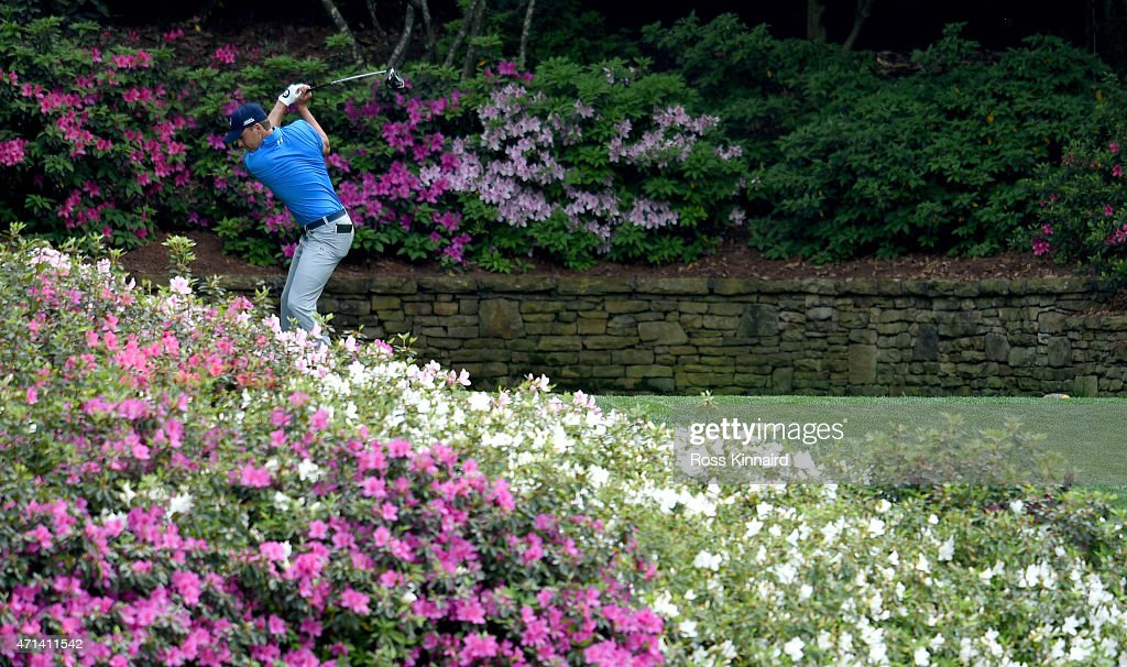 Jordan Spieth of the United States on the 13th tee during the first round of the 2015 Masters at Augusta National Golf Club on April 9, 2015 in Augusta, Georgia.