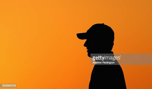 Jordan Spieth of the United States on the practice range before the first round of the Abu Dhabi HSBC Golf Championship at the Abu Dhabi Golf Cub on...
