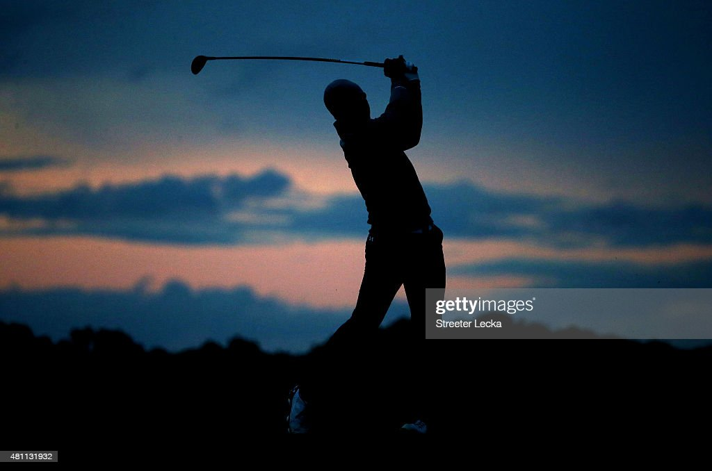 Jordan Spieth of the United States plays a shot on the 13th hole during the second round of the 144th Open Championship at The Old Course on July 17, 2015 in St Andrews, Scotland.