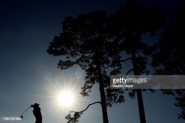 Jordan Spieth of the United States plays his shot from the fifth tee during the second round of the Houston Open at Memorial Park Golf Course on...