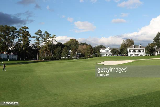 Jordan Spieth of the United States walks to the ninth green during the first round of the Masters at Augusta National Golf Club on November 12, 2020...