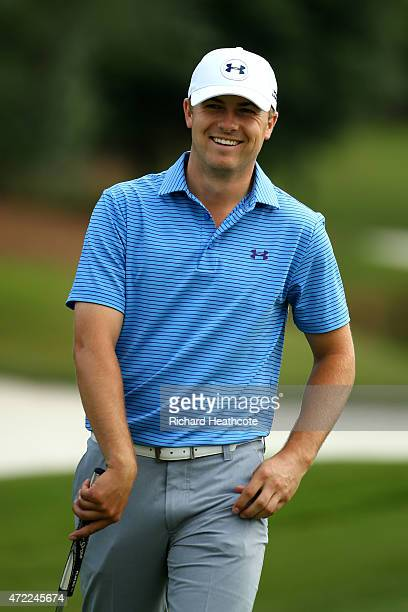 Jordan Spieth of the USA in action during a practice round for THE PLAYERS Championship at TPC Sawgrass on May 5 2015 in Ponte Vedra Beach Florida