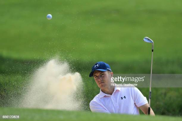 Jordan Spieth of the USA in action during a practise round for the WGC Dell Match Play at Austin Country Club on March 21 2017 in Austin Texas