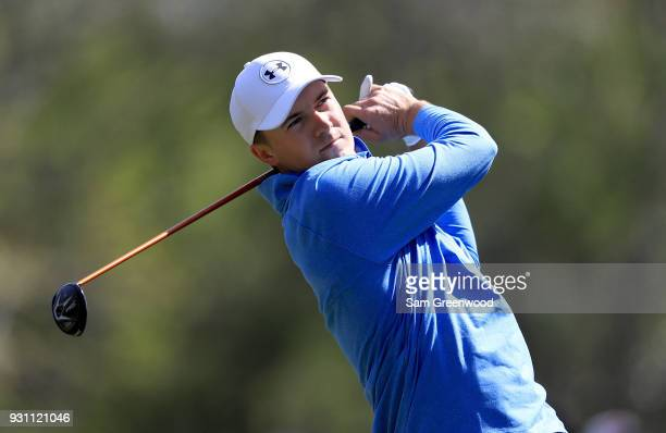 Jordan Spieth plays a shot on the 11th hole during the first round of the Valspar Championship at Innisbrook Resort Copperhead course on March 8 2018...