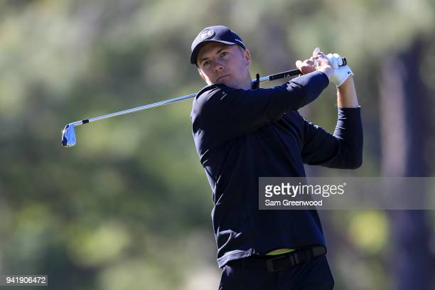 Jordan Spieth plays his shot from the 17th tee during the second round of the Valspar Championship at Innisbrook Resort Copperhead Course on March 9...