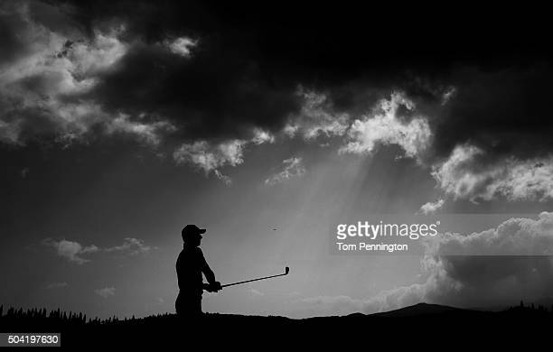 Jordan Spieth plays his shot from the second tee during the third round of the Hyundai Tournament of Champions at the Plantation Course at Kapalua...