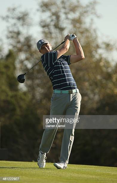 Jordan Spieth tees off on the 15th during Round Two of the Valero Texas Open at TPC San Antonio ATT Oak Course on March 28 2014 in San Antonio Texas