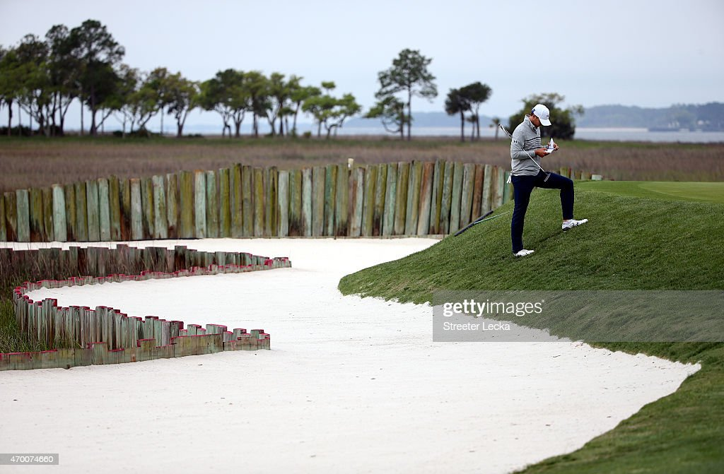 Jordan Spieth waits to putt 17th hole during the second round of the RBC Heritage at Harbour Town Golf Links on April 17, 2015 in Hilton Head Island, South Carolina.