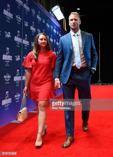 Jordan Staal of the Carolina Hurricanes arrives at the 2018 NHL Awards presented by Hulu at the Hard Rock Hotel Casino on June 20 2018 in Las Vegas...